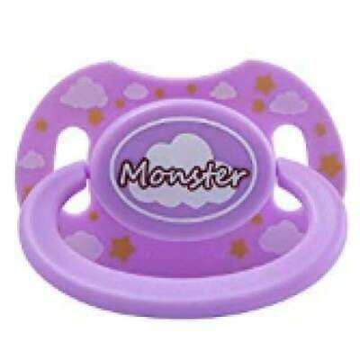 "Baby Bear Pacis Purple Printed ""Monster"" Adult Pacifier (LittleForBig Bigshield"