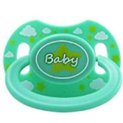 "Baby Bear Pacis Green Printed ""Baby"" Adult Pacifier (LittleForBig Bigshield Gene"
