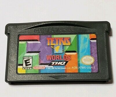 Nintendo GameBoy Advance game - Tetris Worlds , Tested Cart only