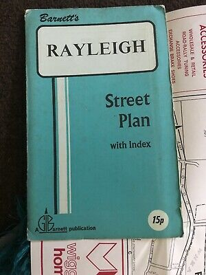 Barnett's Vintage Map Rayleigh Street Plan with index