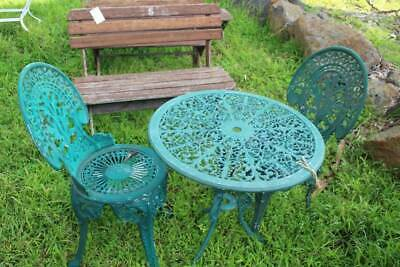 A Vintage Cast Iron Garden Setting - Outdoor Table & Chairs