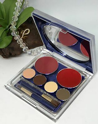 Estee Pure Color Eyeshadow + Lipstick Makeup Compact - Bois De Rose~Red Lacquer