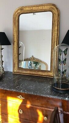 19th Century Antique French Giltwood Gilt Louis Philippe  Mirror