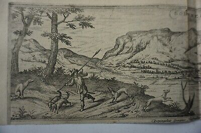 Georgius Houfnaglius Colored Copperplate Copper Borness um 1564 1.96Bi