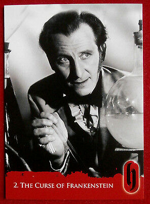 HAMMER HORROR - Series Two - Card #02 - The Curse of Frankenstein - Strictly Ink