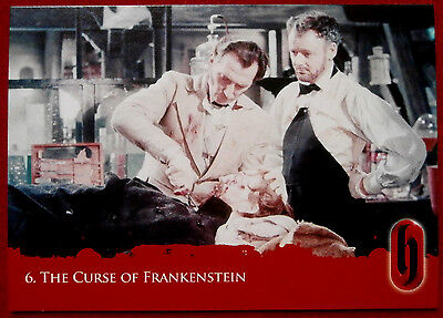 HAMMER HORROR - Series Two - Card #06 - The Curse of Frankenstein - Strictly Ink
