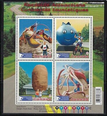 CANADA 2011 ROADSIDE ATTRACTIONS- SOUVENIR SHEET # 2484 MNH WITH 4 x 'P' STAMPS