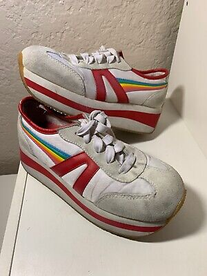 VINTAGE SKECHERS SOMETHIN Else Stripe Platform Sneakers Sz 8