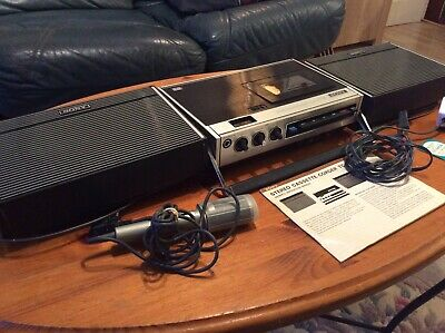 Sony Tc126 Stereo Cassette -Corder With Speakers ,Case , Manual And Mike