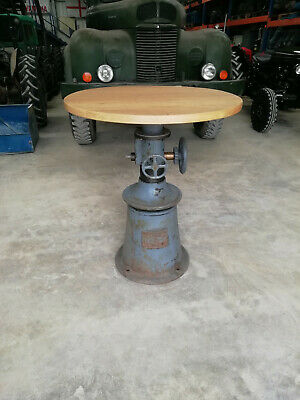 Awesome high round vintage industrial table the best table you will find