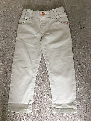 M&S Smart Boys Camel Stone Chino Trousers Jeans 2-3 Years