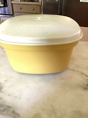 Tupperware Vintage Microwaveable 3 Piece Harvest Gold Vegetable Steamer #888-10