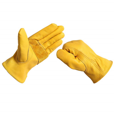 Work Gloves Leather Men Women - Acdyion Outdoor New Wear-Resisting Working for