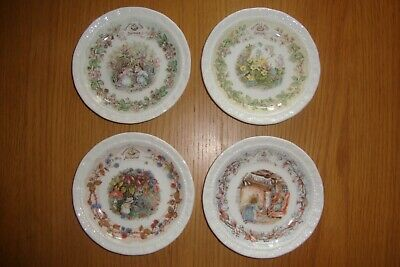 4 x Rare ROYAL DOULTON BRAMBLY HEDGE SEASONS SMALL PLATES