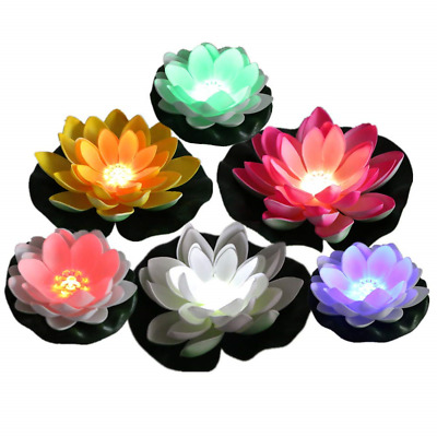 ARDUX Artificial Lotus Floating Light, Color Changing Lily Lotus for Party Fish