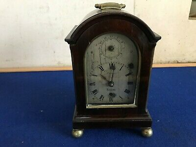 18th century miniature Bracket clock by James Duncan old Bond street London