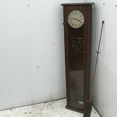 Superb Synchronome Electric long cased clock