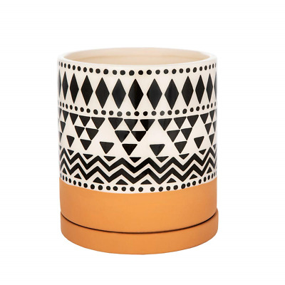 Sass and Belle Scandi Boho Tribal Geo Planter With Saucer