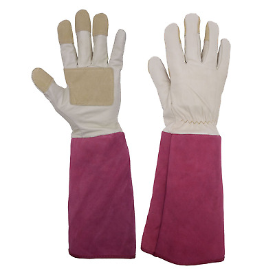 Rose Pruning Gardening Gloves for Men & Women, Thornproof Long Gauntlet Gloves,
