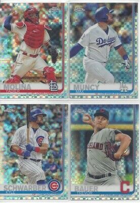2019 Topps Chrome X Fractor Refractor - Complete your Set ~ U Pick Cards