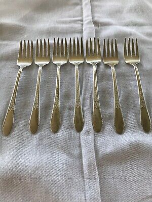 WM Rogers And & Son Gardenia Salad Fork Small Silver Plate Your Pick