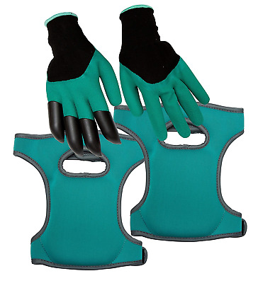 Homekit Gardening Knee Pads and Gardening Gloves Set – Incudes Finger Claws for