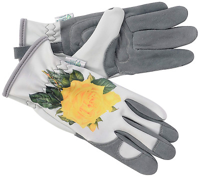 The RHS Collection by Gold Leaf Hampton Ladies Deerskin Leather Gardening Grey &
