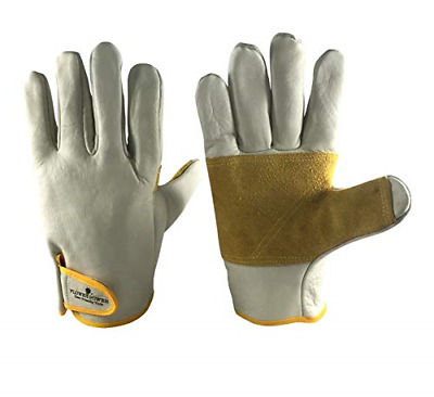 Premier Leather Gardening Gloves for Men Medium or Large - Heavy Duty Work Ideal