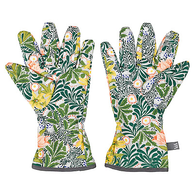 V&A Potting Morris Gloves with Floral Pattern - Green