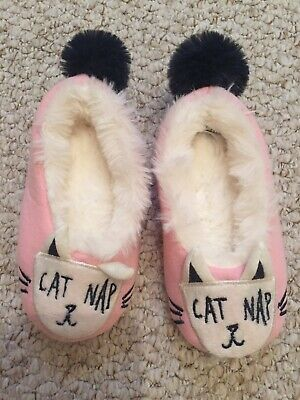 Joules Young Girls Cat Slippers Extra Small -size 7/8 - New No Tag