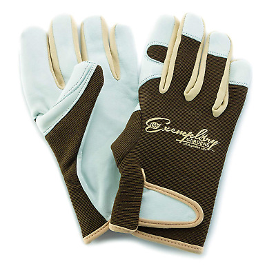 Leather Gardening Gloves for Women and Men. Adjustable Fastener and Breathable