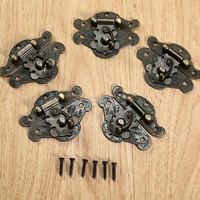 Antique Jewellery Box Decorative Latch Gift Chest Hasp Pad Lock Clasp With Screw