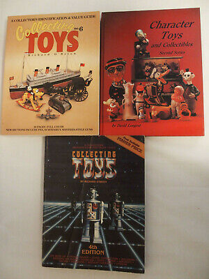 Lot of 3 Toy Collecting Price Guide Richard O'Brien David Longest Character Toys