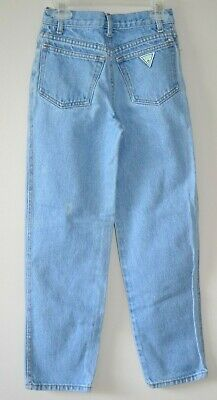 Vintage GUESS Youth Boy's Jeans Green Triangle Size 10 Made in USA GUC