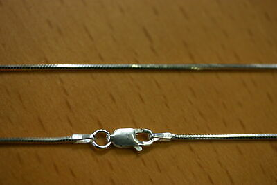 """16"""" 1.2mm 925 Sterling Silver Diamond Cut Snake Chain Necklace Made in Italy"""