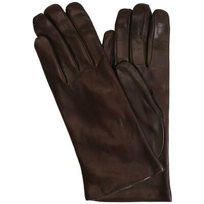 Floto Women's Cashmere Lined Brown Italian Leather Napoli Gloves