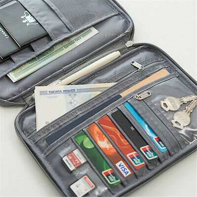 Travel Wallet Family Passport Holder Organizer Document Bag Case Waterproof !