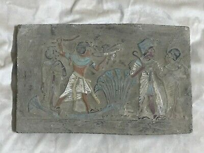 RARE EGYPTIAN ANTIQUES Pharaoh EGYPT STELA Fragment Relief Carved STONE BC