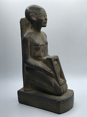 EGYPT EGYPTIAN ANTIQUES LARGE STATUE Ptah Gods Carved STONE 5kg Balck 1550,BC