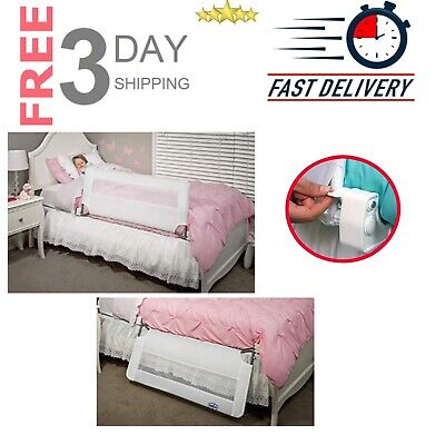 Regalo Swing Down Bed Rail Guard Child Safety Fit Twin To Queen Size Bed White