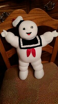 """Ghostbusters Stay Puft Marshmallow Man 16"""" Plush 1986 Glowing Eyes! Rare!"""