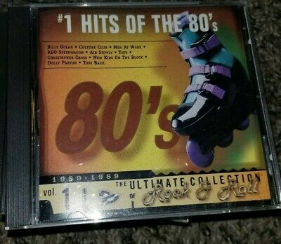 The Ultimate Collection of Rock & Roll: #1 Hits of the 80's  Vol. 1 CD, RARE