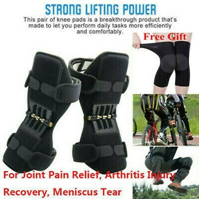 2Pair Power Knee Stabilizer Pad Lift Joint Support Powerful Rebound Spring Force