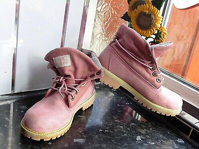WOMEN'S PINK TIMBERLAND 22919M Boots Size Uk 4 EUR 39,59