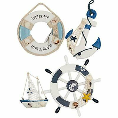 WOODEN NAUTICAL LIGHTHOUSE ANCHOR Decorative Signs WALL HANGING ORNAMENT, BEACH