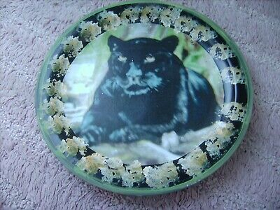 Black Panther       On A Decoupage  Plate