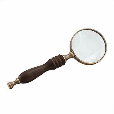 Handheld Magnifier, Antique Handle 10X Reading Magnifying Glass Loupe Book, Map,