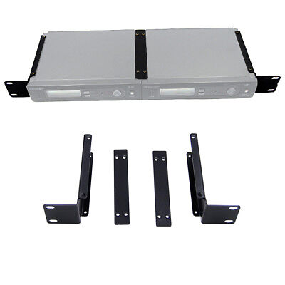 Wireless Mic Receiver Bracket Rackmount and BNC Antenna Extension for Shure SLX4