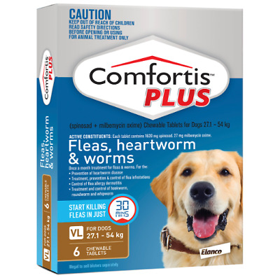 Comfortis Plus 27.1-54KG Brown 6 Tablets (Previously known as Panoramis)