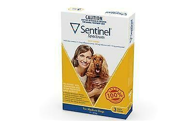 Sentinel Spectrum Tasty Chews for Medium Dogs (11-22kg) Yellow 3's